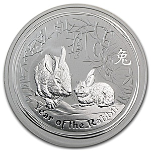 Australian Silver Lunar Series 2011 - Year of the Rabbit - 2 oz
