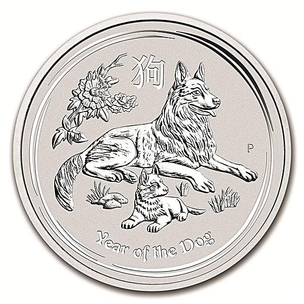 Australian Silver Lunar Series 2018 - Year of the Dog - 1/2 oz