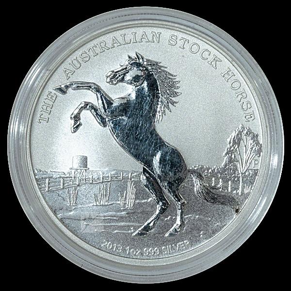 Australian Silver Stock Horse 2013 - Circulated in good condition - 1 oz