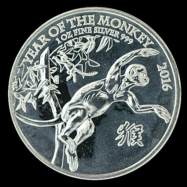 United Kingdom Silver Lunar Series 2016 - Year of the Monkey - 1 oz