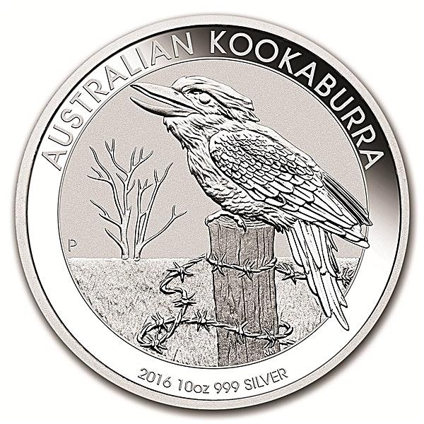Australian Silver Kookaburra 2016 - 10 oz