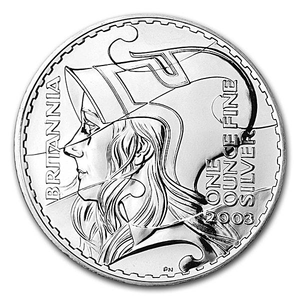 United Kingdom Silver Britannia 2003 - Circulated in Good Condition - 1 oz