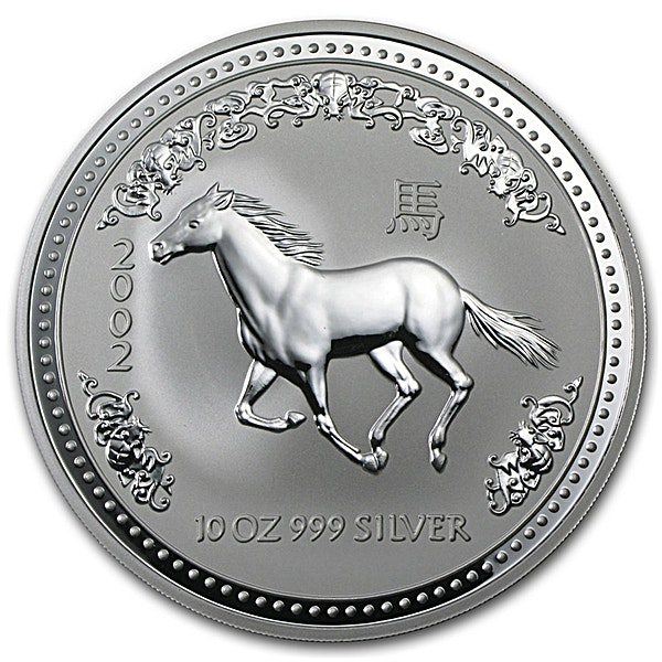 Australian Silver Lunar Series 2002 - Year of the Horse - 10 oz