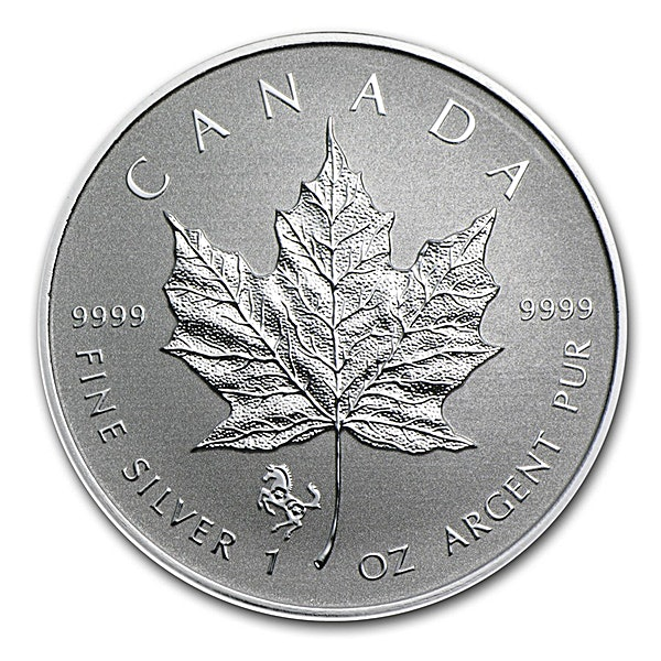 Canadian Silver Maple 2014 - Lunar Horse Privy - Reverse Proof - Circulated in good condition - 1 oz