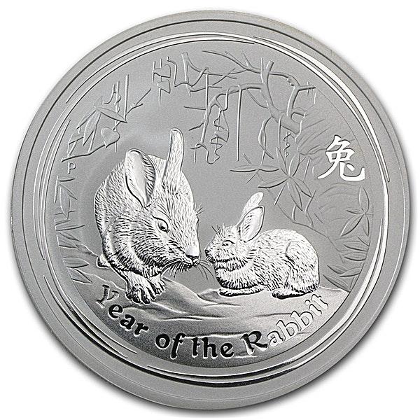 Australian Silver Lunar Series 2011 - Year of the Rabbit - 2 oz