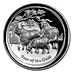 Australian Silver Lunar Series 2015 - Proof High Relief - With Box and COA - 1 oz thumbnail