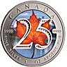 Coloured 25th Anniversary Canadian Silver Maple 2013 - 1 oz
