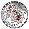 Canada 2016 Silver Queen Elizabeth Rose Coin - Proof - 1/4 oz