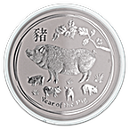 Australian Silver Lunar Series 2019 - Year of the Pig - 10 oz