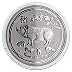 Australian Silver Lunar Series 2019 - Year of the Pig - 1 kg thumbnail