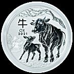 Australian Silver Lunar Series 2021 - Year of the Ox - 1 kg thumbnail