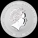Australian Silver Lunar Series 2012 - Year of the Dragon - 1 kg  thumbnail