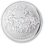 Australian Silver Lunar Series 2015 - Year of the Sheep - 5 oz thumbnail