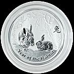 Australian Silver Lunar Series 2011 - Year of the Rabbit - 1/2 oz thumbnail