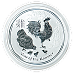 Australian Silver Lunar Series 2017 - Year of the Rooster - 5 oz thumbnail