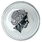 Australian Silver Lunar Series 2017 - Year of the Rooster - 10 oz thumbnail