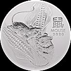 Australian Silver Lunar Series 2020 - Year of the Mouse - 1 oz thumbnail