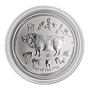 Australian Silver Lunar Series 2019 - Year of the Pig - 1/2 oz
