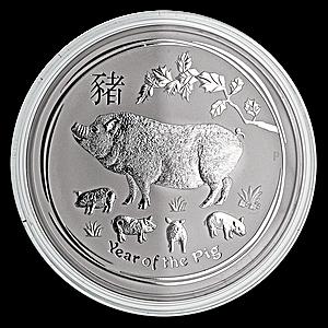 Australian Silver Lunar Series 2019 - Year of the Pig - 1 kg