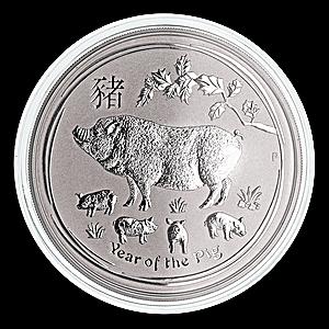 Australian Silver Lunar Series 2019 - Year of the Pig - 5 oz