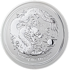 Australian Silver Lunar Series 2012 - Year of the Dragon - 1 kg