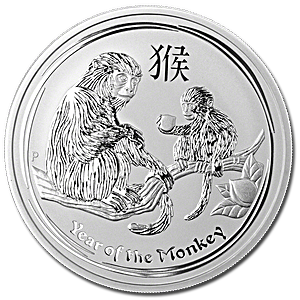 Australian Silver Lunar Series 2016 - Year of the Monkey - 5 oz
