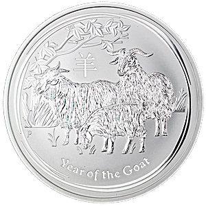 Australian Silver Lunar Series 2015 - Year of the Sheep - 10 oz