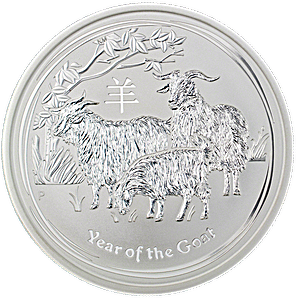 Australian Silver Lunar Series 2015 - Year of the Sheep - 1 kg