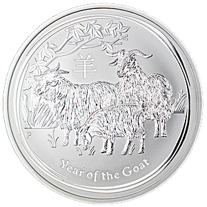 Australian Silver Lunar Series 2015 - Year of the Sheep - 5 oz