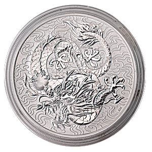 Australian Silver Chinese Myths and Legends 2021 - Dragon - 1 oz