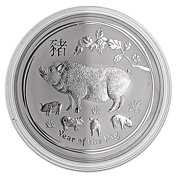 Australian Silver Lunar Series 2019 - Year of the Pig - 1 kg