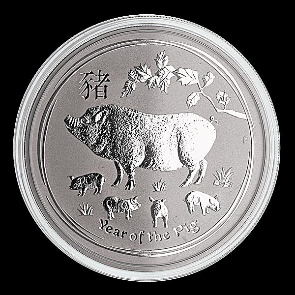 Australian Silver Lunar Series 2019 - Year of the Pig - 2 oz