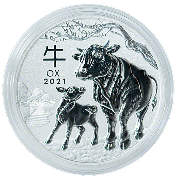 Australian Silver Lunar Series 2021 - Year of the Ox - 1 kg