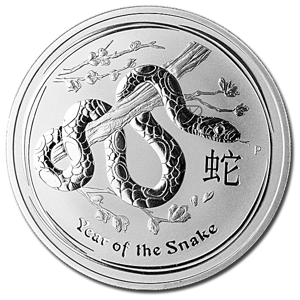 Australian Silver Lunar Series 2013 - Year of the Snake - 1 oz