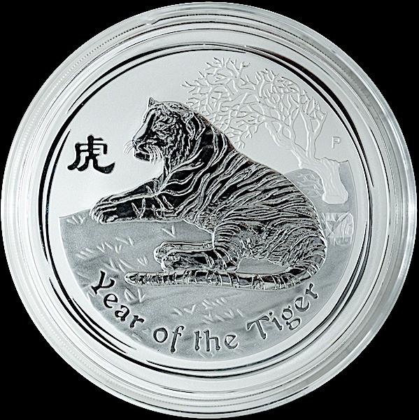 Australian Silver Lunar Series 2010 - Year of the Tiger - 1 kg