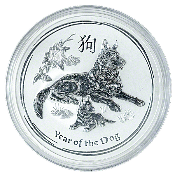 Australian Silver Lunar Series 2018 - Year of the Dog - 1 kg
