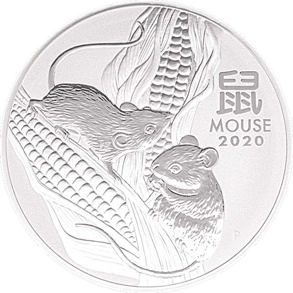 Australian Silver Lunar Series 2020 - Year of the Mouse - 1 kg