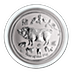 Australian Silver Lunar Series 2019 - Year of the Pig - 1/2 oz thumbnail