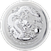 Australian Silver Lunar Series 2012 - Year of the Dragon - 1 kg  thumbnail