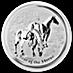 Australian Silver Lunar Series 2014 - Year of the Horse - 1/2 oz thumbnail