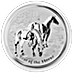 Australian Silver Lunar Series 2014 - Year of the Horse - 1 kg thumbnail