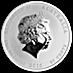 Australian Silver Lunar Series 2016 - Year of the Monkey - 1/2 oz thumbnail