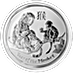 Australian Silver Lunar Series 2016 - Year of the Monkey - 1/2 oz thumbnail