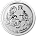 Australian Silver Lunar Series 2016 - Year of the Monkey - 5 oz thumbnail