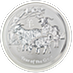 Australian Silver Lunar Series 2015 - Year of the Sheep - 1 kg thumbnail
