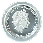 Australian Silver High Relief Kookaburra 25th Anniversary 2015 - Proof High Relief - Circulated in Good Condition - 1 oz  thumbnail
