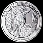 Australian Silver Kookaburra 2014 - 1 oz  thumbnail