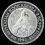 Australian Silver Kookaburra 1992 - 2 oz  thumbnail
