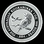 Australian Silver Kookaburra 2004 - 1 oz  thumbnail