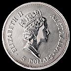 Australian Silver Kookaburra 1990 - 1 oz  thumbnail